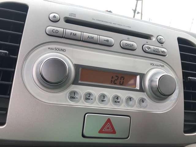 【純正オーディオ】CD,ラジオの視聴が可能です。快適なドライブができますね。