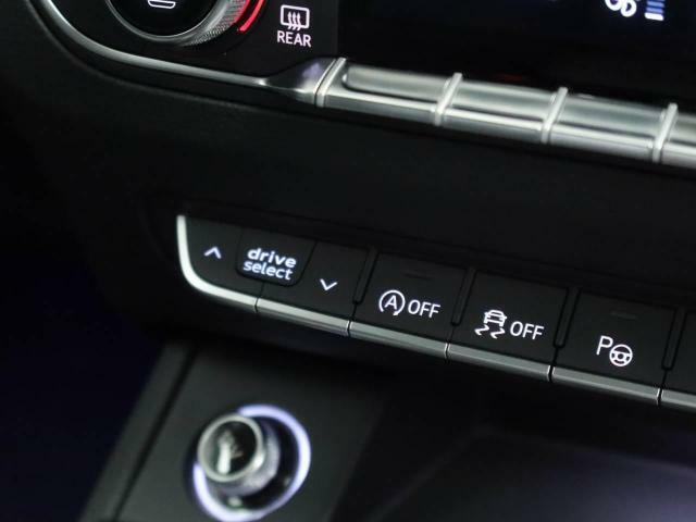 アウディドライブアシスト  ボタン操作ひとつでパワーステアリングのアシスト量、エンジン、ギアチェンジ特性など走行特性を選べます。