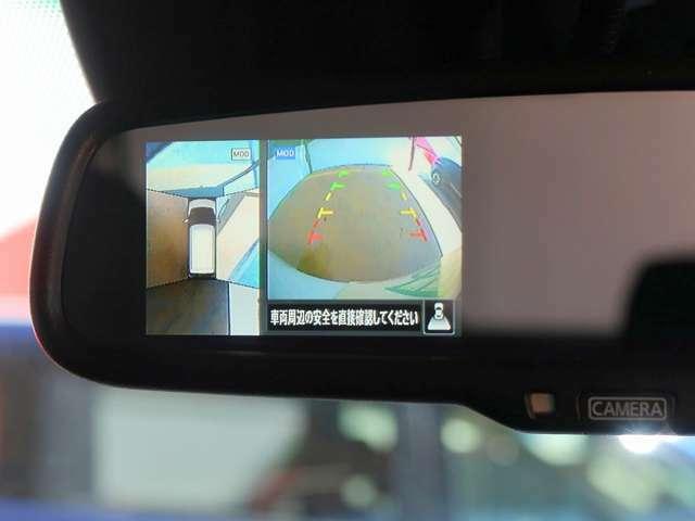 アラウンドビューモニター(全周囲モニター)付き!フロントカメラ&サイドカメラ&バックカメラ等、周囲の安全を確認出来る優れもの!小道から出る場合や、狭い道での幅寄せや車庫入れ等も安心してできますね!
