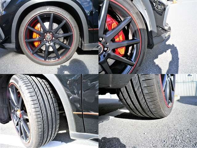 タイヤ4本ともに8部前後残量あります。2021年5月にホイール4本全てリペア再塗装しました!!かなりキレイです。
