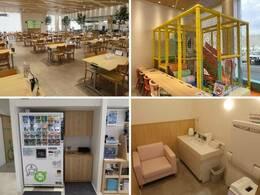 開放感のあるショールームで、ゆったりとお過ごしいただけます。キッズスペース・フリードリンクやおむつ交換台などもございますので、小さなお子様連れのお客様も安心してご来場下さい。