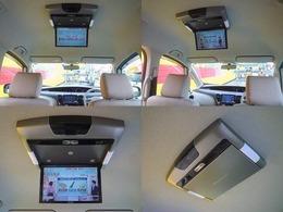 後席フリップダウンモニター装備♪後部座席の方もTVやDVDの視聴が可能です!!