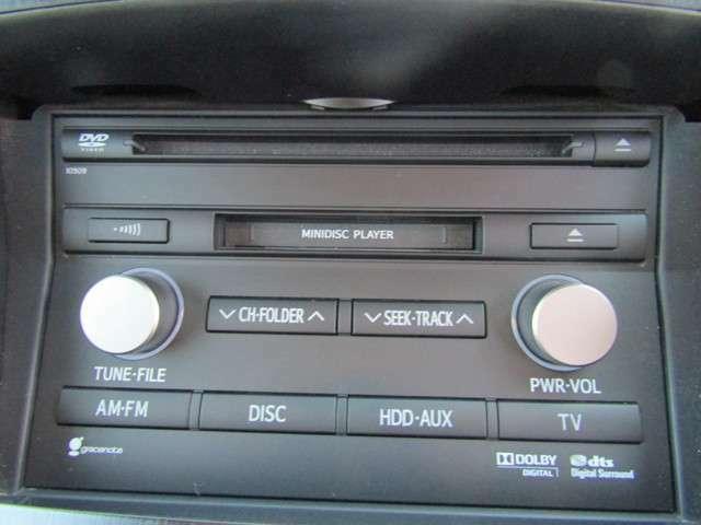 DVD、CD、MD、Bluetoothオーディオ、フルセグテレビと充実です。