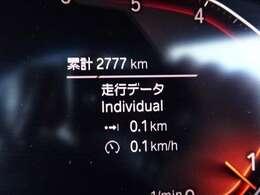この走行距離は魅力です!新車をお考えの方も是非ご検討ください!(試乗等で若干走行距離が増える場合もございます)