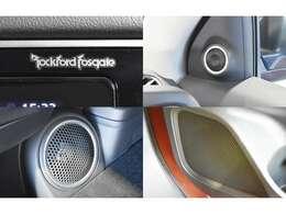 9スピーカー&パワーアンプを装備した自慢の『ロックフォードフォズゲート』プレミアムオーディオ★高音質の迫力あるサウンドがデッドニングを施した車内にクリアに響きます♪