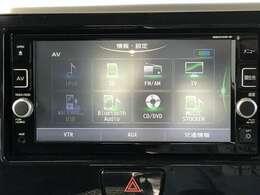 日産純正メモリーナビには、地デジTV、Bluetooth対応、CD/DVD再生、SD録音機能など充実した装備となっております♪
