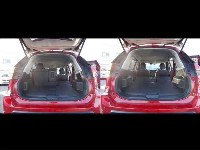 とても広いラゲッジスペースとなっておりますので大きい荷物も載せられますし、車中泊だって出来てしまいますよ!!