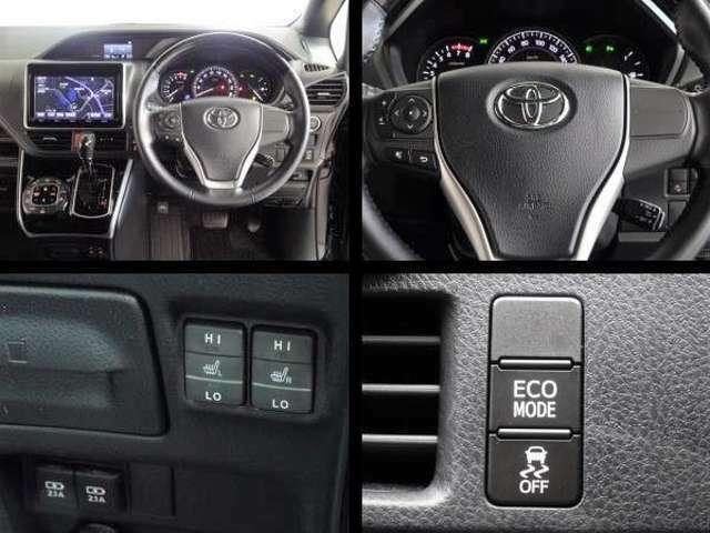 ステアリング付属のスイッチで、色々な情報をディスプレイ上で確認できます。クルーズコントロール・シートヒーターを装備してます。