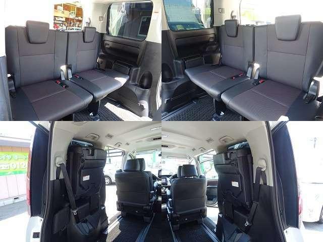 何かと便利な3列シートは簡単にシートアレンジが出来ます☆人を乗せるとき、荷物を積む時、あなたの場面に合わせて自由自在!!フリーダイヤル0120‐218‐158(ニイヤ・イコヤ)まで♪
