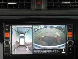 アラウンドビューモニター付きで車庫入れも安心です