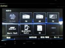 CD/DVD/TV/Bluetooth/USBに対応しております