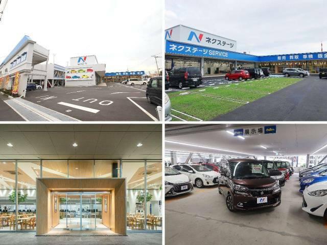 レンタアップ 大きなNマークの看板が目印!広々とした駐車場をご用意してお待ちしております。展示場には豊富な在庫をご用意。メーカー問わず比較していただけます。