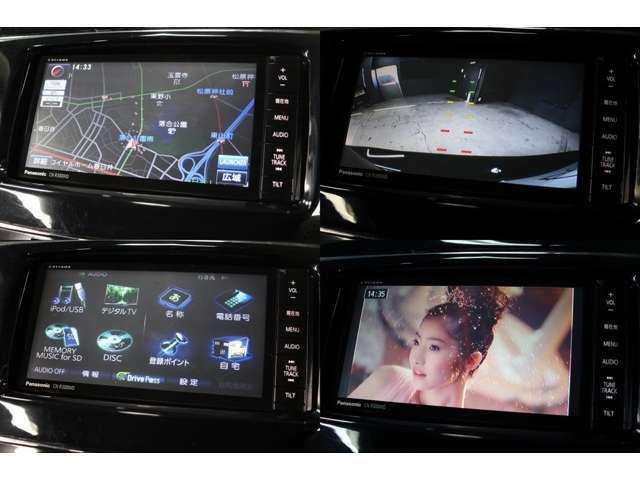 パナソニックSDナビ地デジTV内臓モデル装備です!型番CN-R300WDです。DVDビデオの再生やブルートゥースも接続可能です。(ブルートゥースはハンズフリー用です)SDカードにCDの録音も可能です。バックカメラ装備です