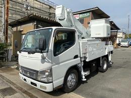 三菱ふそう キャンター 0.5t高所作業車タダノ11m通信工事用 バケット120Kg