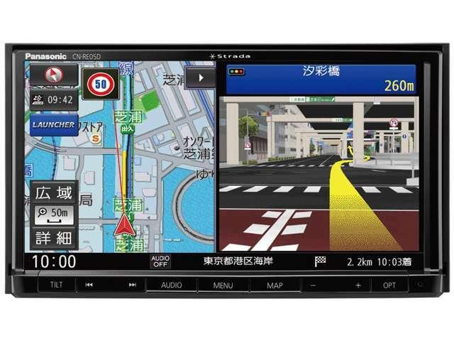 Aプラン画像:Bluetooth機能搭載4X4フルセグ地デジTV内蔵で安定した映像をご視聴頂けます。!CD録音可!地図バージョンも新しい現行モデルですのでナビもスマートにご案内!画像はイメージです。