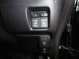 両側電動スライドドア。メーカーオプションの安心パッケージ、サイドエアバック付き。