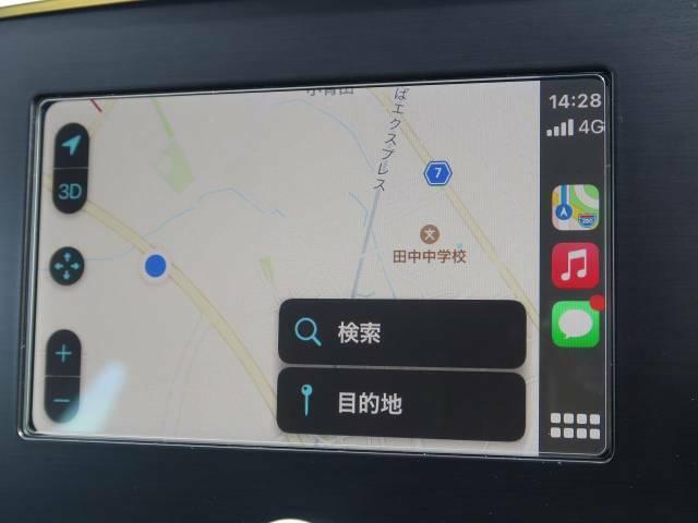 ●AppleCarPlay対応『お手持ちの携帯から音楽・電話・ナビアプリを使用することが可能です♪(有線接続)』