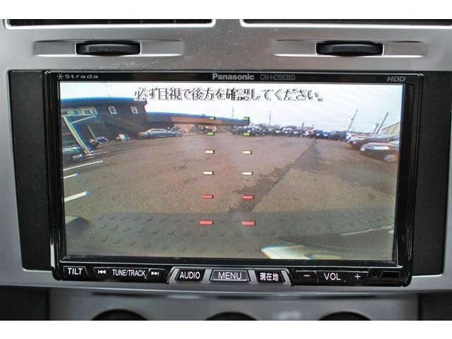 バックカメラもついております。駐車も安心ですね。