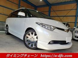 トヨタ エスティマ 3.5 G 4WD ローダウン 18アルミ 両Pドア ナビ ETC