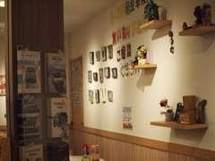 雑貨屋さんぽい店内は、ほんのりカフェの香りがします!