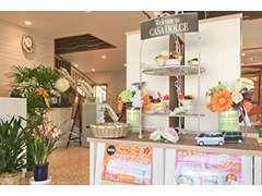 ドルチェは甘い、優しいという意味があり、ゆったりくつろいでもらえるところというコンセプトの店内です。