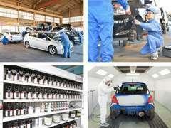 ▲新しい技術、設備を整えております!塗装ではエコに配慮した塗料を使うなど、環境にも人にも優しい企業を目指しております。
