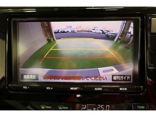 車庫入れ時など、ガイド線もあるので後ろが確認できて安心です。運転に自信のない方には特におすすめです!ただし、バック時の目視での確認も忘れずに(^▽^)