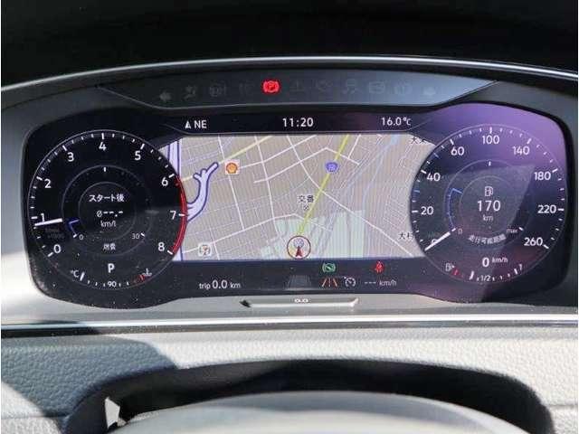 デジタル液晶メーター(Active Info Display)採用の車両です。