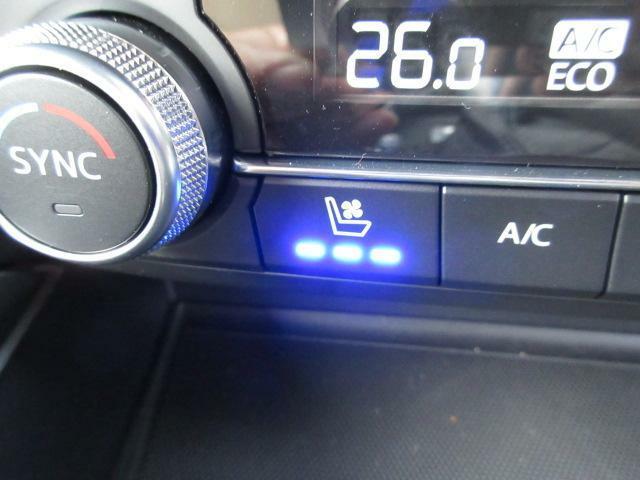 さらに、運転席、助手席には夏場も涼しいシートベンチレーションも装備しています。