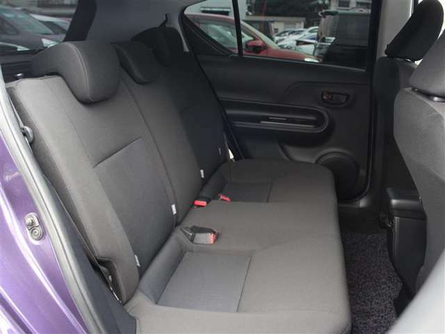 後席はISOFIX対応でチャイルドシートの取り付けも可能!
