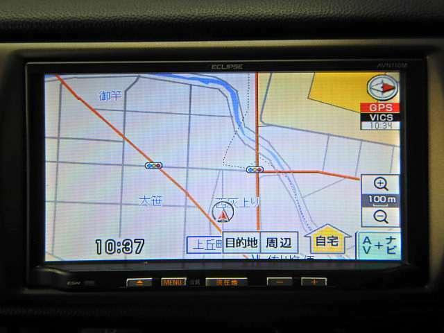 ECLIPSE製のメモリーナビを装備♪もちろん地デジTV対応♪渋滞時も同乗者を退屈させません☆