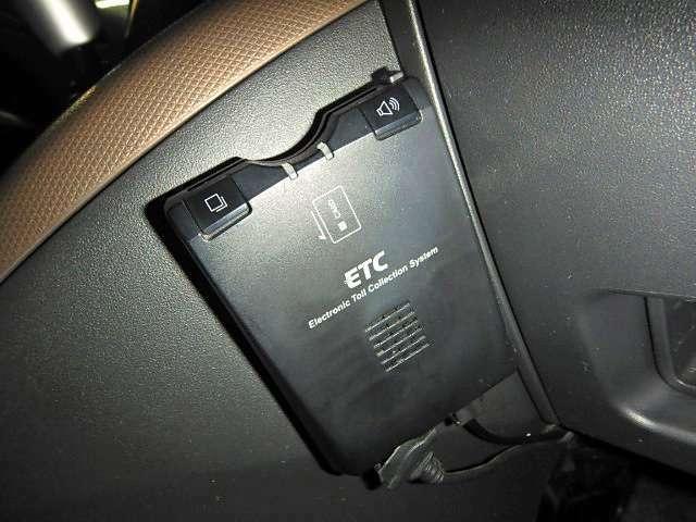 いまや標準装備?ETCもしっかりついて、高速道路の料金所もノンストップです!