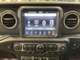 純正のUコネクトナビです!BluetoothオーディオやフルセグTVなど、使える機能が豊富です!