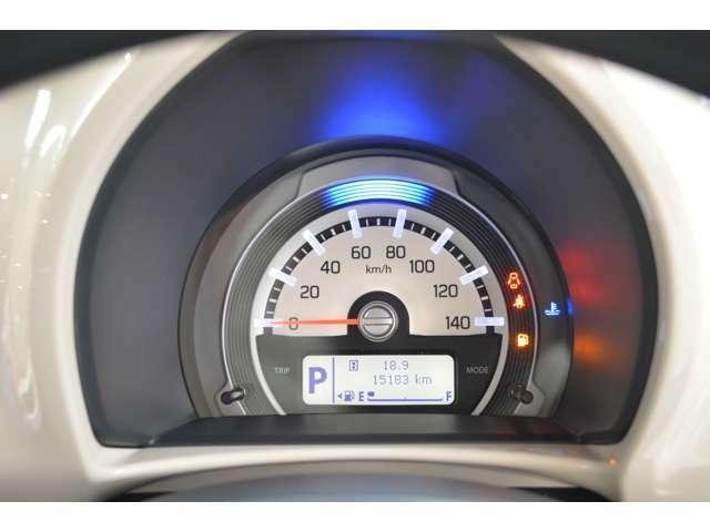 平均燃費、後続可能距離、タコメーター、エコスコアなどを切り替えて表示します。ハスラーのオリジナルの専用アニメーションを表示するなど、ドライブを楽しく演出してくれます!!