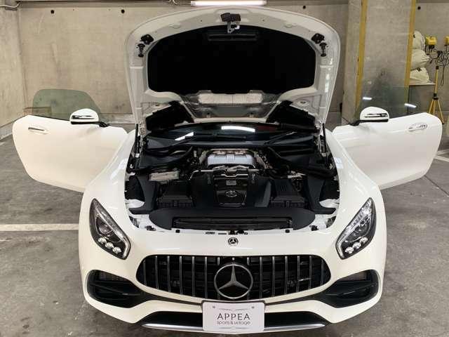 エンジンはAMG製4リッターV8ツインターボ「M178」ユニットを搭載◎クーペよりも強化され出力350kW(476ps)6000rpm・トルク64.2kgm(630Nm)1700rpmのパワーを誇る!