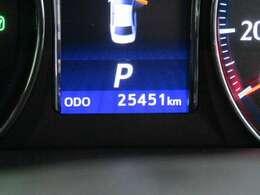 走行距離はおよそ25,000kmです。