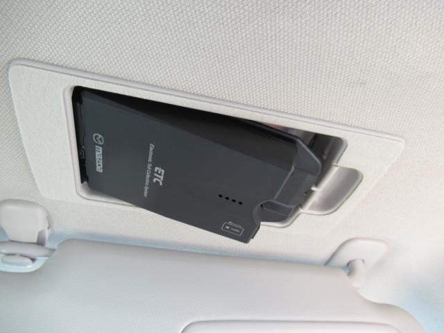 サンバイザー裏にはスマートETCを装備!設置場所が隠れておりますので、防犯上も安心ですね。