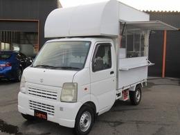 スズキ キャリイ 660 KCエアコン・パワステ 3方開 4WD 移動販売車 換気扇 2槽シンク 冷蔵庫