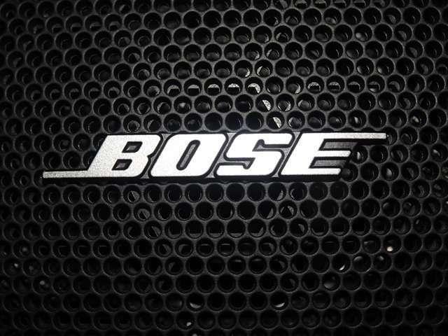 BOSEサウンド付きでボリュームを大きめにしても高音から低音までバランスよく、臨場感のあるリアルなサウンドが楽しめます。