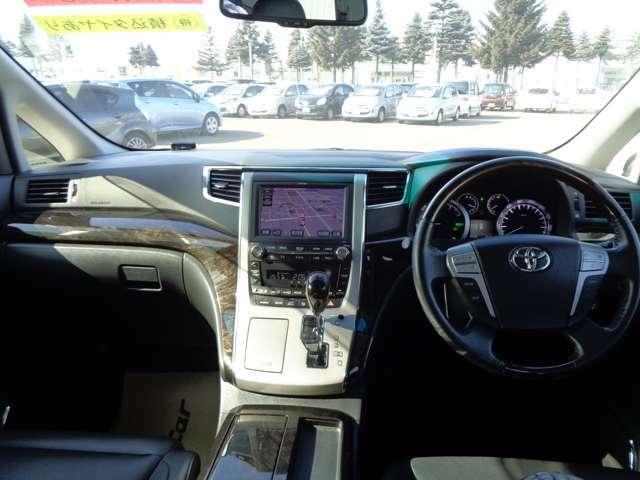 大きなフロントガラスで視界を確保。視点も高いので運転しやすいですよ!