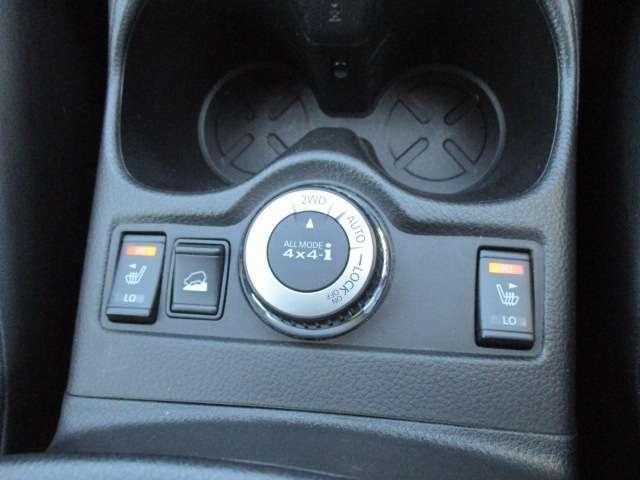 ALL MODE 4×4〈4WD MODEスイッチ付〉アクセルを踏むと同時に、各種センサーの情報から、4WDコンピューターが走行状態を判断。走行状況に応じて前後トルク配分を100:0から約50:50に切り替え、滑りやすい路面でも○