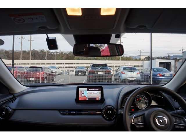 室内からの風景ですが、運転がしやすい見晴らしとなっておりますので、女性のお客様にもお勧めです!