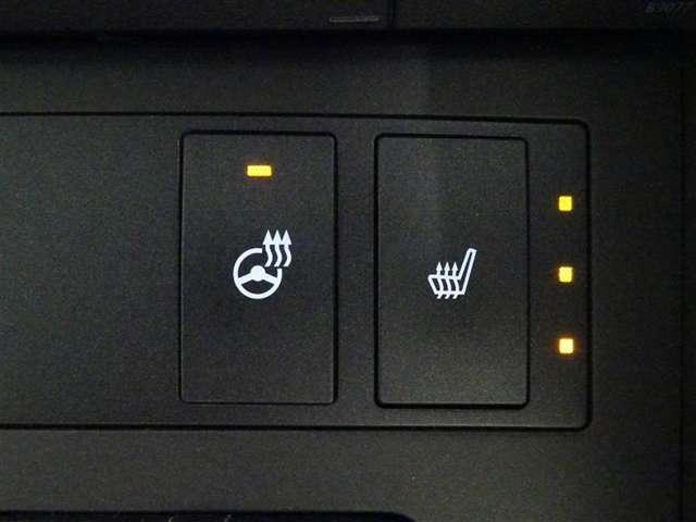 フロントシートヒーターとステアリングヒーターを装備しております。