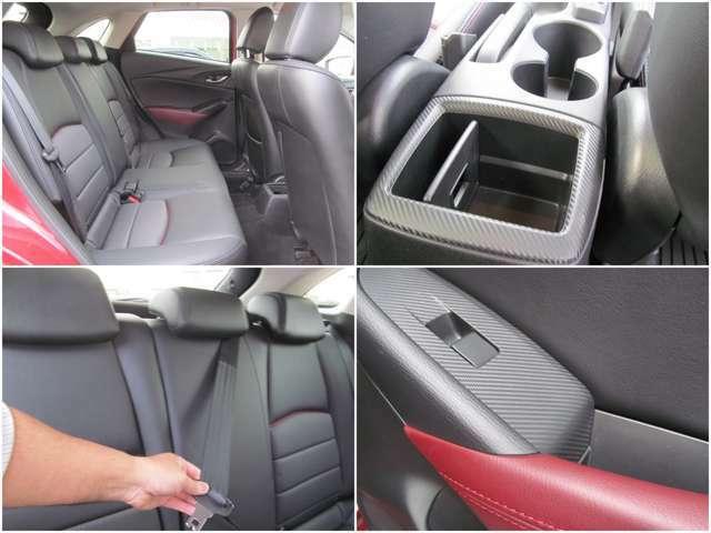 後席は中央もしっかりとシートベルトがございます!