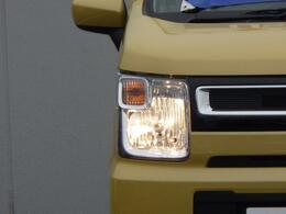 温かみのある光が特徴の ハロゲンヘッドランプ。ランプ切れでも、交換費用が安いです。
