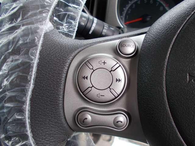 ステアリングスイッチで運転中も選曲・音量調整が楽にできます☆わき見運転の防止に役立ちます☆