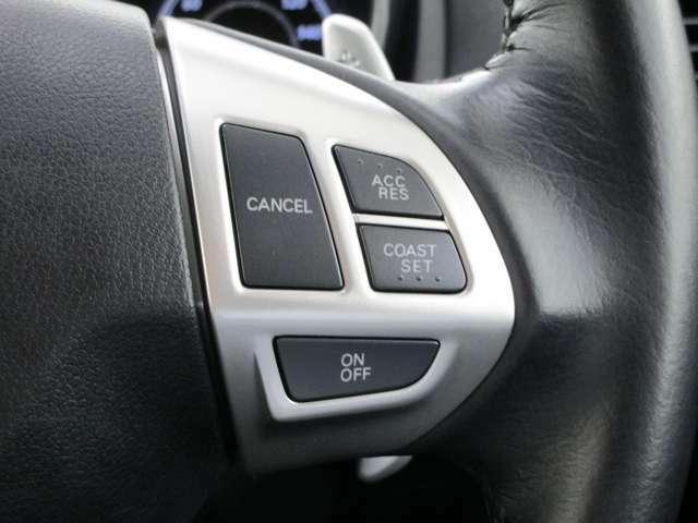 ステアリングクルーズコントロールスイッチ 高速道路の運転をサポート