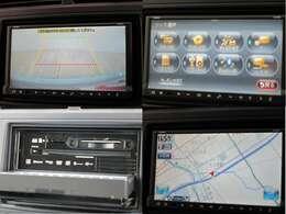 クラリオン製メモリーナビ GCX609 フルセグTV ブルートゥース対応 DVD&CD再生可能 SD録音&再生可 バックギアにシフトすると自動的にバックカメラの映像をナビ画面に表示します