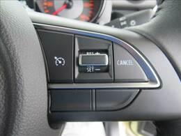 クルーズコントロール装備。アクセルを踏まなくても一定の速度で自動的に走行することができますよ。