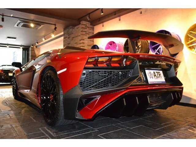 2015y 正規ディーラー車 アヴェンタドール LP750-4 SV 世界600台限定 バックカメラ フロントリフティング アルカンターラステアリング レッドステッチ カーボンリアウイング
